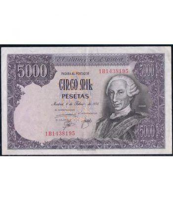 (1976/02/06) Madrid. 5000 Pesetas. MBC. Serie 1B1438195.  - 1
