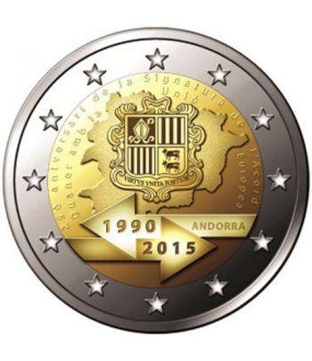 moneda conmemorativa 2 euros Andorra 2015 Acuerdo Aduanero. BU  - 1