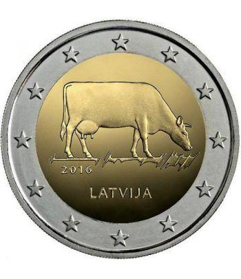 moneda conmemorativa 2 euros Letonia 2016 Vaca.  - 2