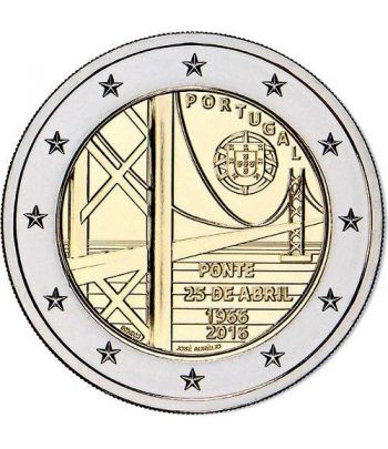 moneda conmemorativa 2 euros Portugal 2016 Puente.  - 2