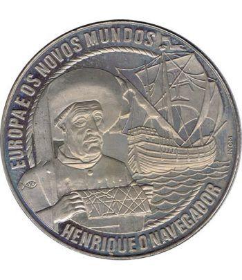 Moneda 2.5 Ecu Portugal 1991 Barco. Cuproníquel.  - 1