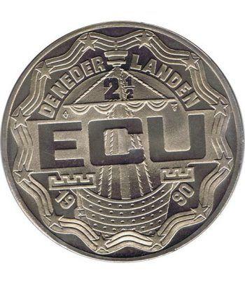 Moneda 2.5 ECU de Holanda 1990 Emmeloord. Níquel.  - 2
