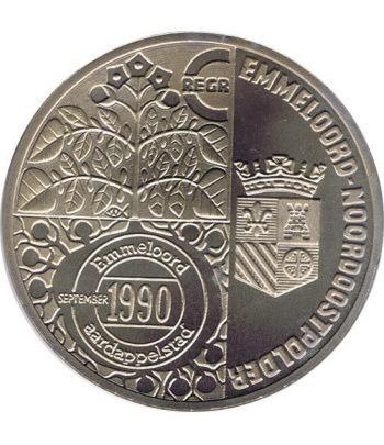 Moneda 2.5 ECU de Holanda 1990 Emmeloord. Níquel.  - 4