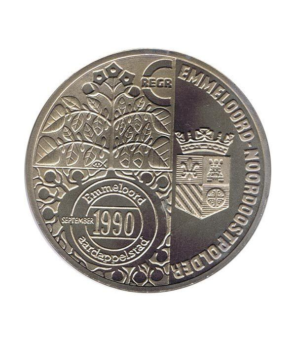 Moneda 2.5 ECU de Holanda 1990 Emmeloord. Níquel.  - 1
