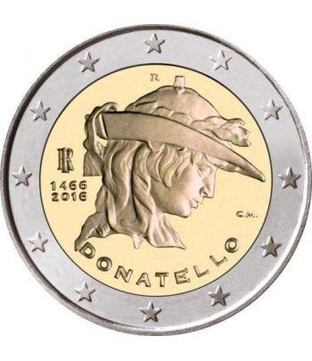 moneda conmemorativa 2 euros Italia 2016 Donatello.  - 2