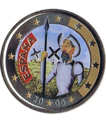 moneda conmemorativa 2 euros España 2005 Quijote Color B  - 2