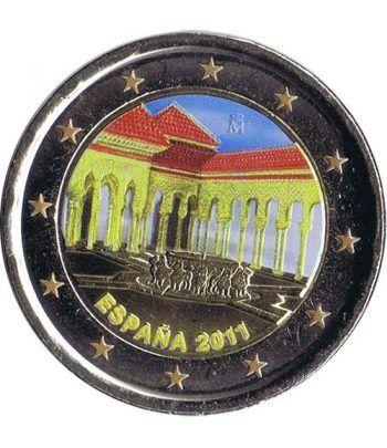 moneda conmemorativa 2 euros España 2011 Alhambra. Color C  - 2