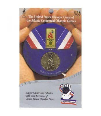 E.E.U.U. 1/2$ 1995 JJOO Atlanta Baloncesto + Pin.  - 1