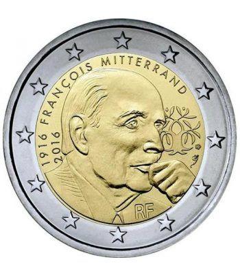 moneda conmemorativa 2 euros Francia 2016 Mitterrand.  - 2