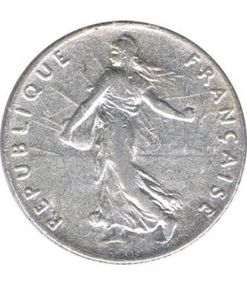 Moneda de plata 50 centimos Francia 1912.  - 1