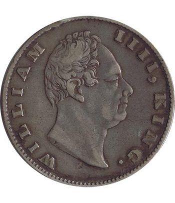 Moneda de plata 1 Rupia India Británica 1835.  - 1