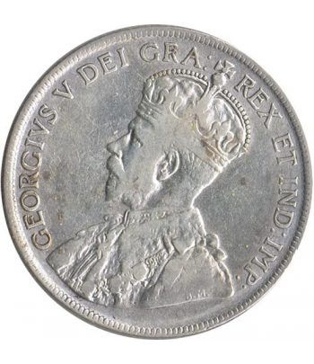 Moneda de plata 50 cents Newfoundland 1917.  - 1