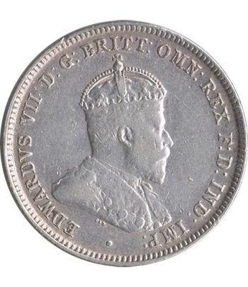 One Shilling de plata Australia año 1910.  - 1