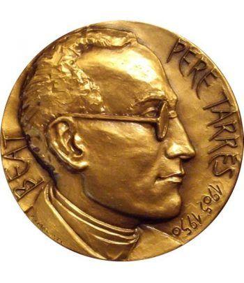 Medalla Beatificación Pere Tarrés 1905-1950. Bronce Dorado.  - 1