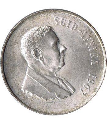 Moneda de plata 1 Rand Sudafrica 1967.  - 1