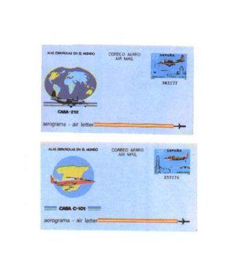 Aerograma 205/206 Año 1983  - 2