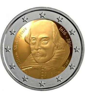 moneda conmemorativa 2 euros San Marino 2016 Shakespeare  - 1