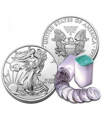 Monedas de plata 1$ Estados Unidos Liberty 2012 Roll 20 monedas  - 2