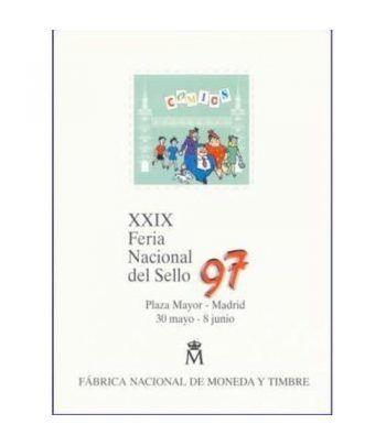 1997 Documento 44 XXIX Feria Nacional del Sello con Sobre.  - 1