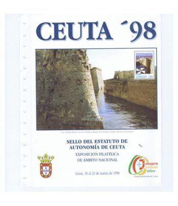 1998 Documento 2 Sello Estatuto Autonomía Ceuta.  - 1