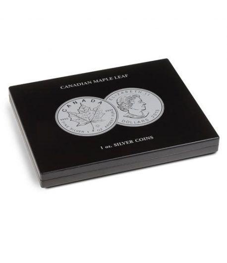 LEUCHTTURM Estuche de madera para 20 monedas Maple Canadá Estuche Monedas - 1