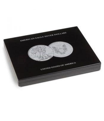 LEUCHTTURM Estuche de madera para 20 monedas Liberty Estuche Monedas - 2