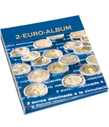 LEUCHTTURM Numis Album preimpreso monedas de 2 Euros Nº 1.  - 1