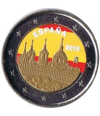 moneda conmemorativa 2 euros España 2013 Escorial Color C  - 2