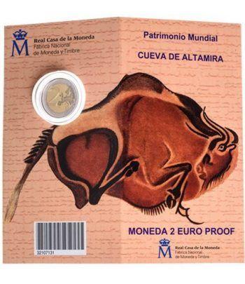 Cartera oficial euroset 2 Euros España 2015 Altamira. Proof.  - 1