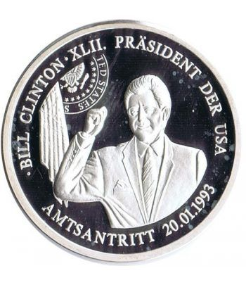 Medalla de plata Bill Clinton President Der USA. Proff  - 1