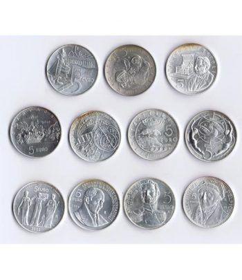 Monedas de plata 5 euros San Marino 2003/2013. 11 monedas  - 2