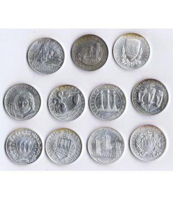 Monedas de plata 5 euros San Marino 2003/2013. 11 monedas  - 4