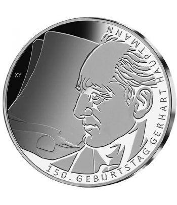moneda Alemania 10 Euros 2012 J. Gerhart Hauptmann.  - 1
