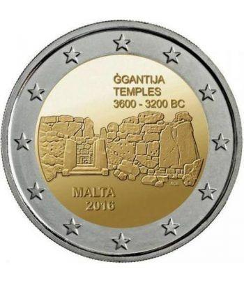 moneda conmemorativa 2 euros Malta 2016 Templos Ggantija  - 2