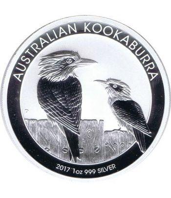 Moneda onza de plata 1$ Australia Kookaburra 2017.  - 1