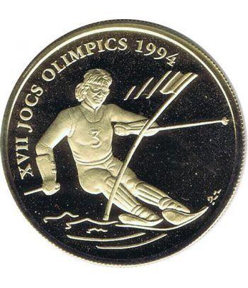 Moneda de oro 25 Diners Andorra 1993 JJOO LILLEHAMMER  - 1