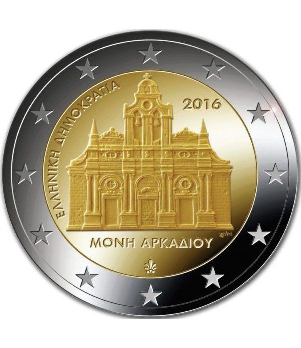 moneda conmemorativa 2 euros Grecia 2016 Arkadi.  - 2