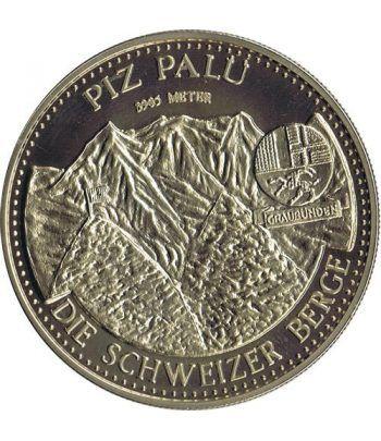 Medalla de plata Helvetia Montañas Piz Palu.  - 1