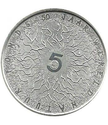 Holanda 5 euros 2011 50 Aniversario de WWF. Coincard.  - 1