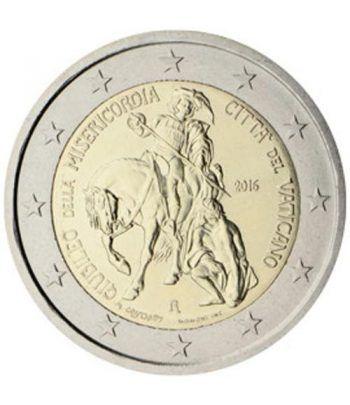 moneda conmemorativa 2 euros Vaticano 2016 Misericordia  - 2