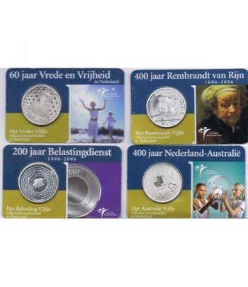 Colección Holanda 5 Euros 10 monedas varios años.  - 4