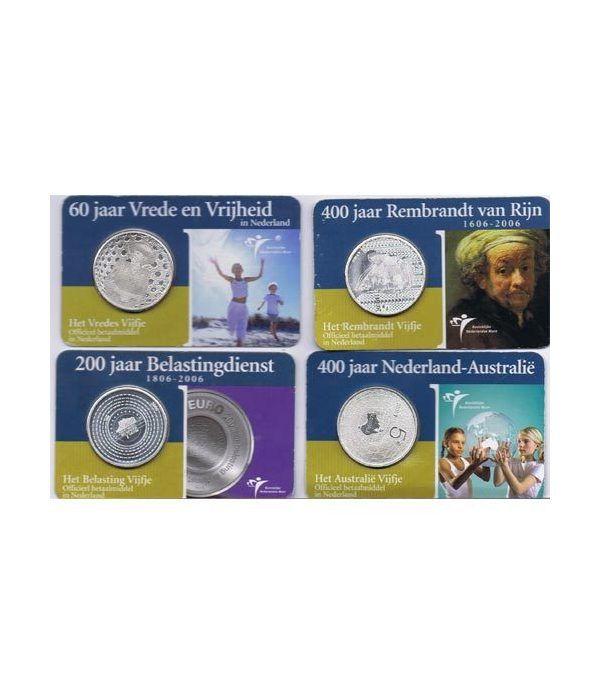 Colección Holanda 5 Euros 10 monedas varios años.  - 1