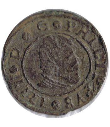 image: 1 Maravedí 1720 Felipe V Barcelona. Cobre.