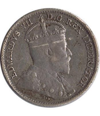 Moneda de plata 5 Cents Canada 1910 Eduardo VII.  - 1