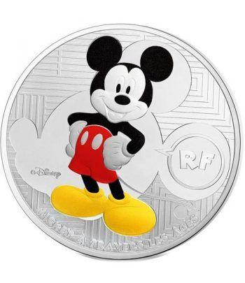 Francia 10 € 2016 Mickey a traves de los tiempos. Plata color  - 1