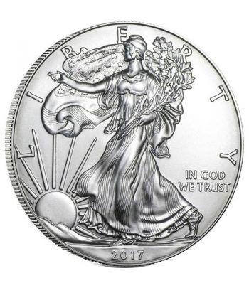 Moneda onza de plata 1$ Estados Unidos Liberty 2017.  - 1