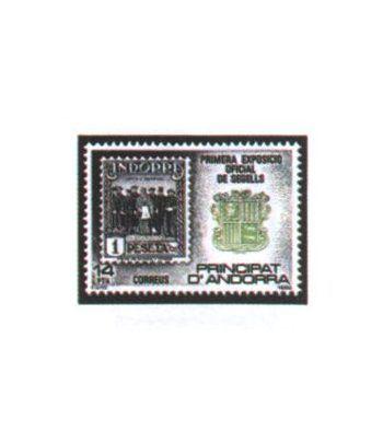 162 I Exposicion oficial sellos Andorra.  - 2