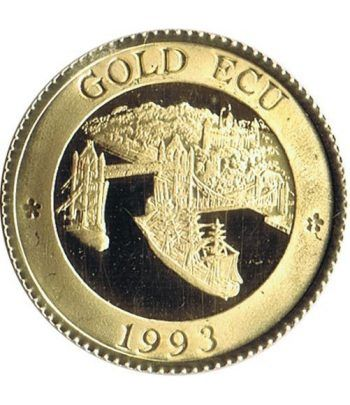 Moneda de oro Gold Ecu Gran Bretaña 1993 Tower Bridge. 6 gr.  - 1