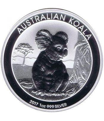 Moneda onza de plata 1$ Australia Koala 2017  - 1