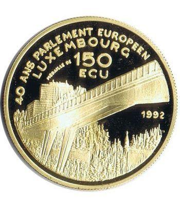 Moneda de oro 150 Ecu Luxemburgo 1992 Parlamento.  - 1